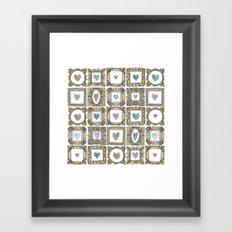 love heart frames Framed Art Print