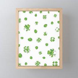 Watercolor  Lucky Charm Pattern Framed Mini Art Print
