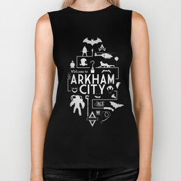 Welcome To Arkham City Biker Tank