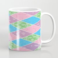preppy Mugs featuring Dazed & Preppy by Raizhay Lough