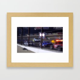 Faster then the Camera Framed Art Print