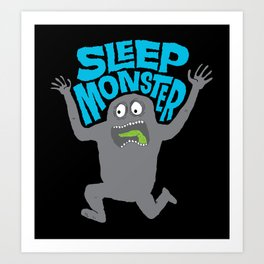 Sleep Monster Art Print