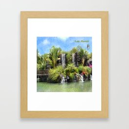 Waterfalls in Laie, Oahu Hawaii Framed Art Print