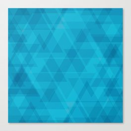 Gentle light blue triangles in the intersection and overlay. Canvas Print