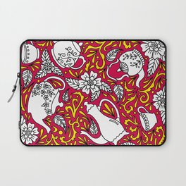 Tea Time Red Laptop Sleeve