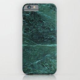 Dark Green Marble Texture iPhone Case