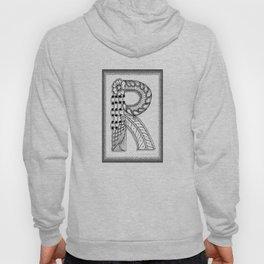 Zentangle R Monogram Alphabet Illustration Hoody