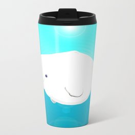 Fat Beluga Whale Travel Mug
