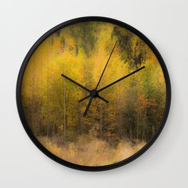 Fall color forest #decor #buyart #society6 Wall Clock