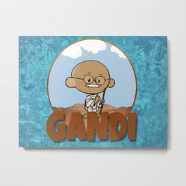 Lil Big Head Gandi Metal Print