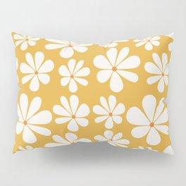 Floral Daisy Pattern - Golden Yellow Pillow Sham