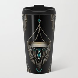 "Art Deco . ""Gold pendants "". Travel Mug"