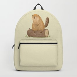 Beaver on a Log Backpack
