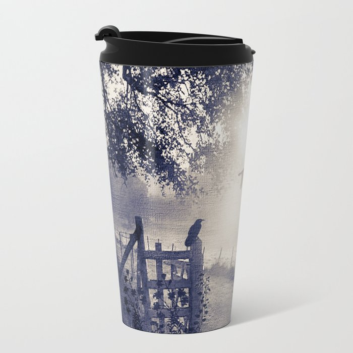 untitled  (colour option) Metal Travel Mug