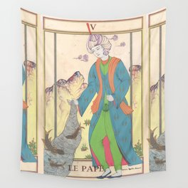 Tarot Card-The Pope-The Hierophant-Le Pape Wall Tapestry