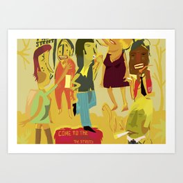 Come to New York and Smoke on the Streets Art Print