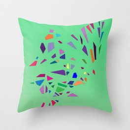 Summer Peppermint Throw Pillow