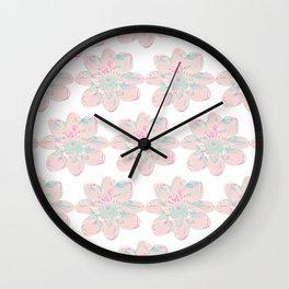 Flower Pattern #4 Wall Clock