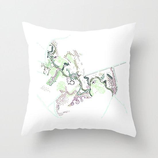 City of Plants Throw Pillow