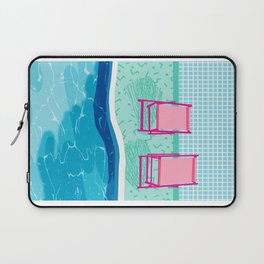 Vay-K - abstract memphis throwback poolside swim team palm springs vacation socal pool hang Laptop Sleeve