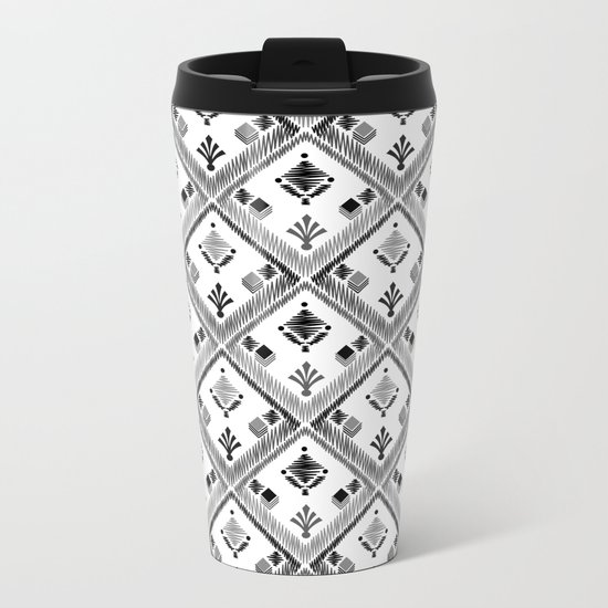 Abstract ethnic ornament. White background 4. Metal Travel Mug