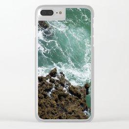 Green Ocean Atlantique Clear iPhone Case