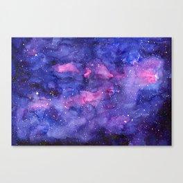 Galaxy Pattern Watercolor Canvas Print