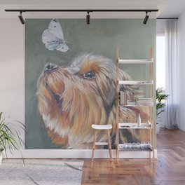 A realistic Yorkshire Terrier Portrait by L.A.Shepard fine art painting Wall Mural