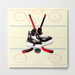 Hockey art Metal Print