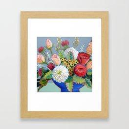 Blue Bowl Framed Art Print