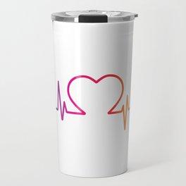 Heartbeat LGBT Pride Travel Mug