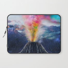 Rainbow Volcano Laptop Sleeve