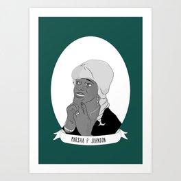 Marsha 'Pay No Mind' Johnson Illustrated Portrait Art Print