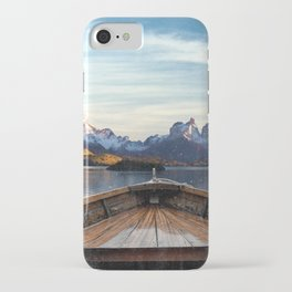 Torres del Paine National Park Chile, The Boat in Patagonia iPhone Case
