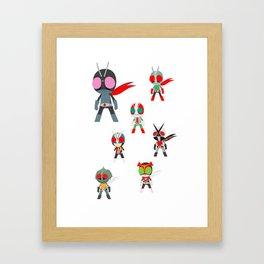 Seven Legendary Riders Framed Art Print