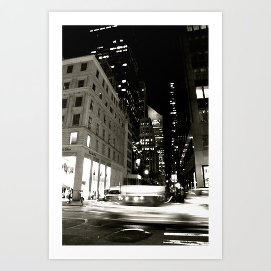 Hot Night Art Print