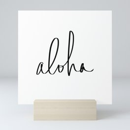 Aloha Hawaii Typography Mini Art Print