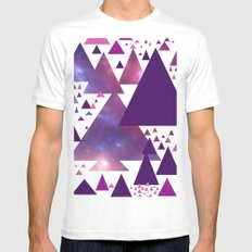 Triangle Invasion;  MEDIUM White Mens Fitted Tee