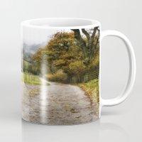england Mugs featuring Hathersage, England  by Michelle Gillatt