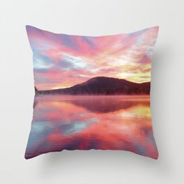Sunrise: Fire Above and Fire Below Throw Pillow