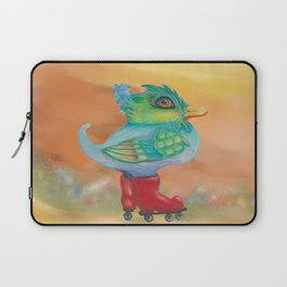 a skating snozzleberryduck day in autumn Laptop Sleeve