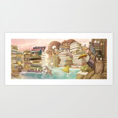 The Library Islands Art Print