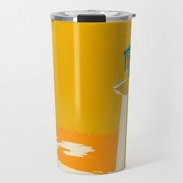 Amber and Green Lighthouse Travel Mug