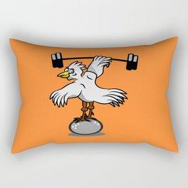Chicken lifting weights Rectangular Pillow