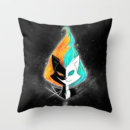 Nightmare/ScribbleNetty (Galaxy) Throw Pillow
