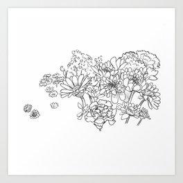 Bouquet (fraction) Art Print