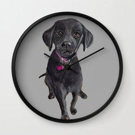 Black Lab Puppy Wall Clock