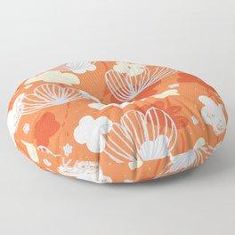 Spring Garden M+M Tangerine by Friztin Floor Pillow