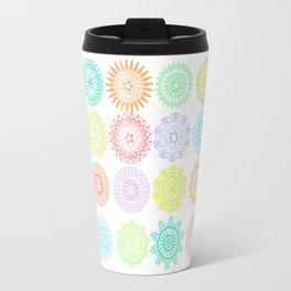 Colorful Mandala Patterns Travel Mug