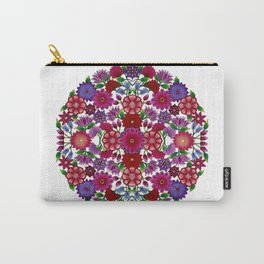 MauindiArts Bouquet Mandala Print Carry-All Pouch